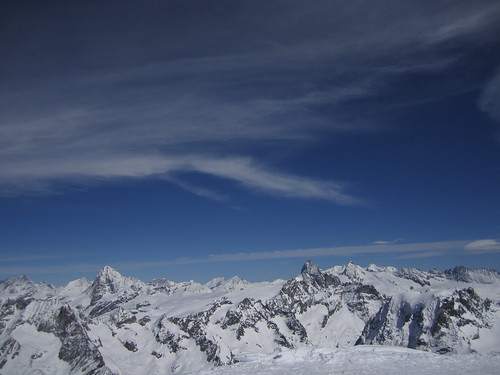 View from Pigne D Arolla Summit