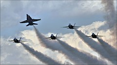 Blues: Delta Pitch Up (Images by A.J.) Tags: aircraft aviation airshow usn us navy blue angels hornet westmoreland county latrobe laurel highlands pennsylvania military airplane 2017