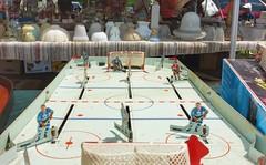Out Door Hockey (Paul Van Damme) Tags: tablehockey fuji x100 aberfoyle fleamarket