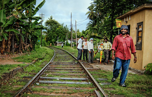 Train Tracks in Galle, Sri Lanka
