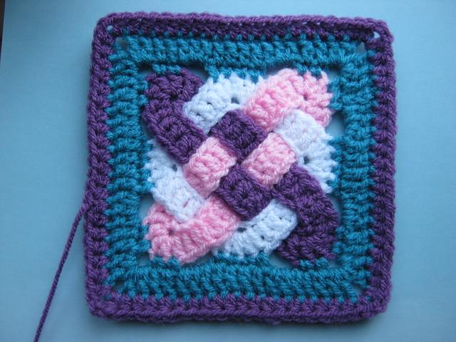 Free Celtic Knot Crochet Afghan Pattern : Blij dat ik brei: Keltisch Vierkant