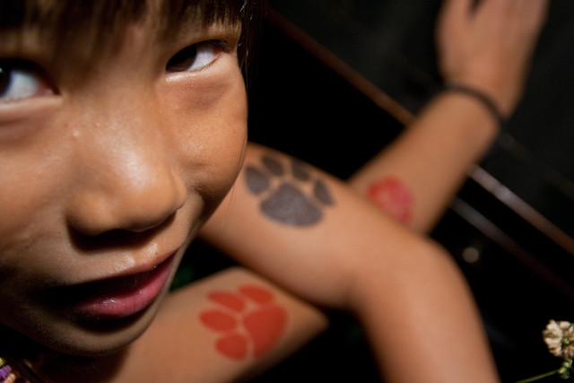 Qiqi Cat Paw Tattoo July 26, 20101