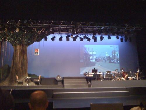 綾庭の宴 開演間近の舞台