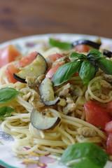アサリと野菜のパスタ