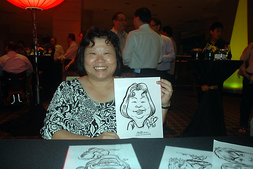 Caricature live sketching for Travel Partners Appreciation Dinner - World Fiesta - 5