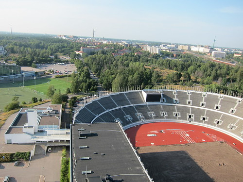 From tower of Olympiastadion Helsinki Olympic Stadium