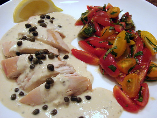 Chicken Tonnato with Tomato Salad
