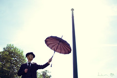 Waintingfor (Dwam) Tags: sun hat umbrella ginger handsome redhead suit collaboration mrpan dwam