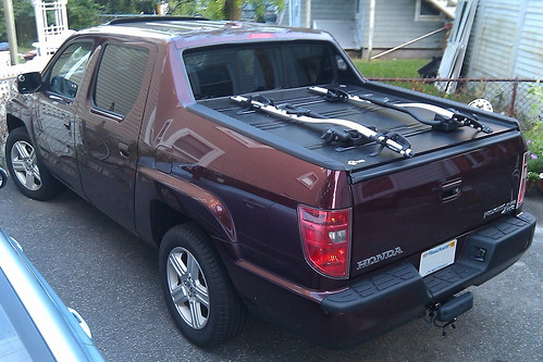 My New Slick Tonneau Mounted Bike Rack Honda Ridgeline