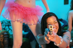 Fun with props (Jacqueline Stephens) Tags: party people color dallas gun texas bodylanguage tutu felixflores snaptweet