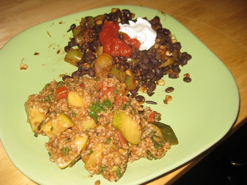 Tabbouleh and Black Beans