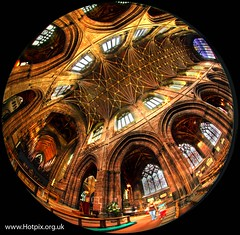 Chester Cathedral, Cheshire UK (HotpixUK -Add Me On Ipernity 500px) Tags: fish hot building eye church buildings lens religious pix flickr pics interior religion churches cathedrals pic smith tony fisheye mind 8mm fhm hive hotpix hotpics tonysmith thegoldenphoenix