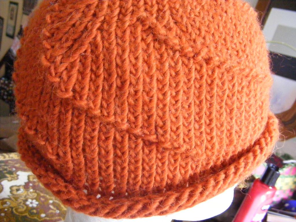 e95d4930cc3 orange spiral beanie (mabith) Tags  orange wool alpaca hat spiral design  knitting handmade