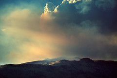 Wild fire above Wenatchee (sparth) Tags: wild fire washington smoke foggy hills burning feu 2010 wanatchee