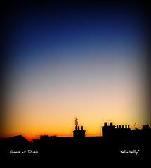 Ennis at Dusk (Yellabelly*) Tags: ireland winter sunset chimney irish rooftops dusk ennis countyclare