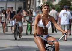 Beach cruiser girl in white (San Diego Shooter) Tags: portrait sandiego streetphotography pacificbeach sandiegopeople sandiegostreetphotography girlonbeachcruiser