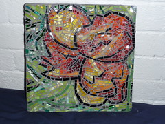 Flower of the Tropics (WinterCreek Mosaics) Tags: glass smalti moasic milliefiori