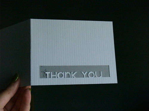 Thank You Card tutorial Step 4