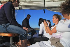 Anja showing off the G11 (rastAsia) Tags: carnival amsterdam boat sailing kpn rastasia cerios sail2010