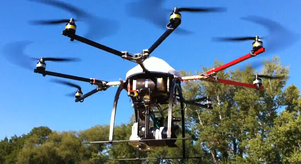 sony nex camera helicopter rig octocopter