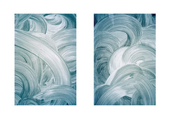 (stereomind) Tags: window diptych paint waves kodak olympus xa ondas diptico