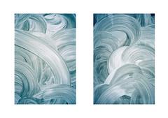 (stereomind) Tags: window diptych paint waves kodak olympus xa ondas diptico