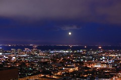 Full Moon over East Bay San Francisco