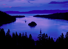 (The Real) Twilight ({photonista} Rachel Hamrick) Tags: lake water landscape nikon dusk tahoe laketahoe emeraldbay southlaketahoe d90 nikkorvr18105