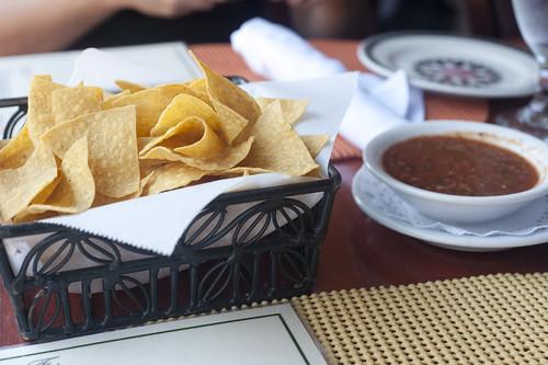 House Organic Chips and Roasted Tomato Salsa-La Fiesta