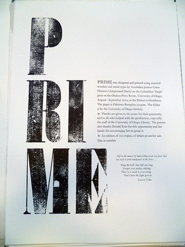 Prime colophon page