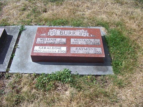 Raymond Burr's grave