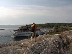 on tour with oldstyle photo camera (transloid) Tags: summer sweden stockholm sommer schweden familie steamboat archipelago bootstour dampfschiff bullerö