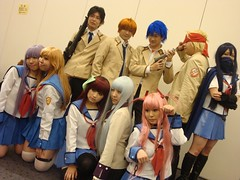 Angel Beats Cosplay Group (moe~ twinstyle) Tags: anime japan cosplay manga wig takamatsu yuri  fukuoka irie tenjin hinata tk naga  yui   kanade  sekine  tenshi  shiina  otonashi     angelbeats maedajun