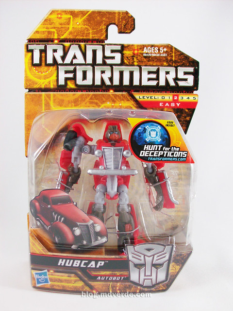 Transformers Hubcap Hunt for the Decepticons Scout - caja