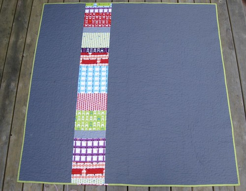Tufted tweets quilt back