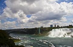 The Niagara Falls Suspension Bridge (dzpixel) Tags: bridge light usa newyork colors clouds america day mtl niagara hdr canda ontareio