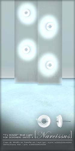 for DU4_*Y's HOUSE* Wall Light [Narcissus]