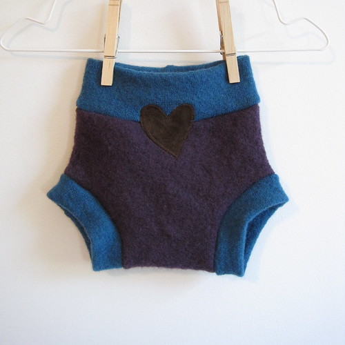 Heart applique shorties