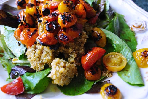 quinoa/roasted heirloom tomato heaven.