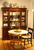 dining room (GoodAfternoonan) Tags: table apartment bookshelf diningroom tulip therapy tuliptable apartmenttherapy apartmenttherapyny