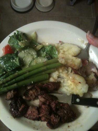 Jim's bday dinner. Mmmmm