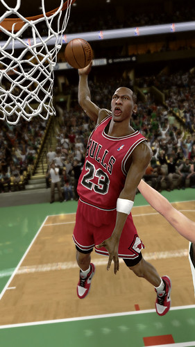 Michael Jordan in NBA 2K11 for PS3 and PlayStation Move