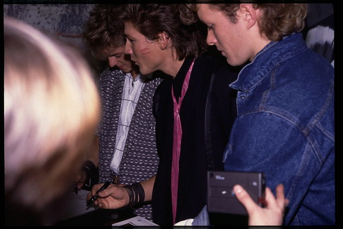 a-ha - hmv 363 Oxford Street, London - instore signing January 1986