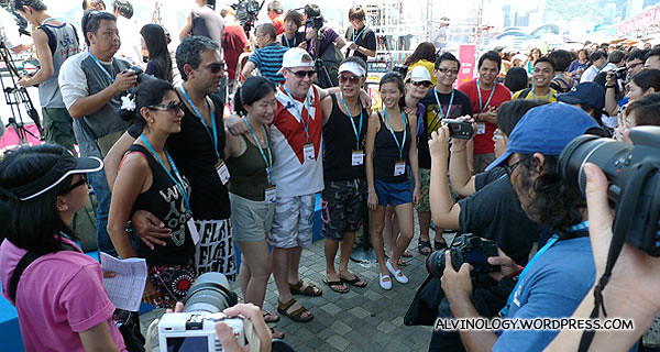 The four contesting bloggers were the centre of media attention