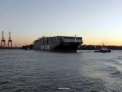 CMA CGM NORMA_Elbe Hamburg (Reinhard_Schuldt ( Brigitte Schuldt)) Tags: river boats harbor boat hamburg vessel cargo container hafen merchant schiff elbe schiffe cargoship