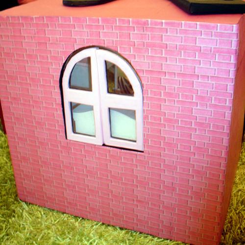 Maison de poupée (de 40cm) en carton: la salle-de-bain (2)