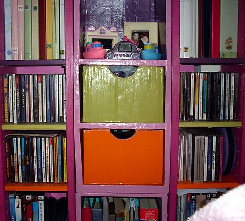 Ikea ... mini étagères en carton ... le 2eme tiers :)