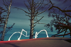 lights of kiwanda (outabounds) Tags: chris light lightpainting film night oregon painting sand nikon pacific northwest kodak 28mm explore cape 100 nikkor nikonf pnw renfro lightart kiwanda f35 ektar explored kodakektar ektar100