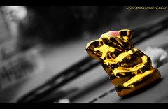 Ganesha (Bharathi mainthan) Tags: bw blur car photography gold ganesha nikon focus driving dof idol 1855 depth pollachi selectivecolor dhina vinayagar d40 valpaarai dhinawithlove wwwdhinawithloveconr bharathimainthan dhinathayalan
