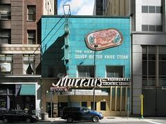 Murray's (altfelix11) Tags: minnesota restaurant turquoise minneapolis steak neonsign 6thstreet steakhouse murrays sixthstreet vintagesign cocktaillounge vintageneonsign silverbutterknifesteak vintagestorefront